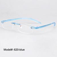 ec8014d1721 Wholesale- 620 Free shipping unisex eyeglasses rimless plastic optical  frames myopia eyewear prescription spectacles