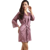 Wholesale Ladies Night Sleeping Dress - Wholesale-Women Lady Sexy Lingerie Sleep Dress Robe Pajama Sleepwear Nightwear Night Dress