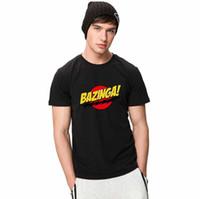 Wholesale Tshirt Big Bang Theory - Bazinga T shirt Funny Sheldon short sleeve gown The Big Bang Theory tees Leisure unisex clothing Quality cotton Tshirt