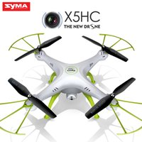 Wholesale Rc Syma - Original Syma Drone with Camera HD X5HC (X5C Upgrade) 2.4G 4CH RC Helicopter Quadcopter Dron Quadrocopter Toy 2107303