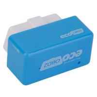 cuadro de tuning obd2 al por mayor-Comercio al por mayor-BD2 Chip Tuning Box Plug and Drive Economy OBD2 Lower Fue Diesel Car Blue Venta caliente