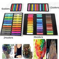 Facile Couleurs temporaires Non toxique Chalk Hair Dye douce Pastels Cheveux Kit 36 ​​Color Set Hair Beauty Care 04TM 7GPK A4KG
