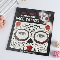 Wholesale Tattoos Face Best - New Festival Face Tattoos Face Temporary Tattoos Hallowmas Tattoos 9 Style Colors Best Quality Gift MR589