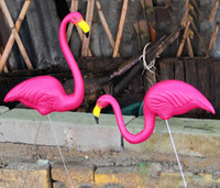 Wholesale Flamingo Accessories - 1PAIR-2PCS Shiping free High Simulated Flamingo Garden Ornaments Yard and Lawn Art Decoration Party Accessories