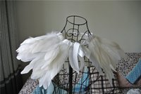 Wholesale Clothing Shrugs - 2 ply white feather Collar Shrug Cape feather shawl feather shoulder feather jacket feather clothing patry cotumes