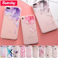 Wholesale Silicone Mobilephone Case - Hot Sale! 3D Relief TPU case For iphone X Ultra-thin Scrub Silicone Mobilephone Cases With Multiple Choices For iPhoneX 8 7 6  Plus