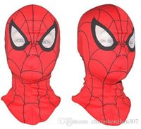 Wholesale Mask Spider Man Red - Free shipping,Cosplay children and adult Spiderman mask  Spider-Man Gloves Cosplay Halloween Party Supplies