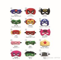Wholesale Holloween Masks - 50Pcs Lot Superhero Mask Children Holloween Cosplay Mask Halloween party kids Favorites Masks 2016 Style