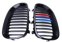 Wholesale Gloss Black M color Kidney Front Grills Grille For BMW E60 E61 Series i i i i i i M5 P218