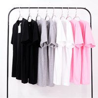 Wholesale Girls Plain Shirts - Top Quality Plain Tee T Shirt For Boys Girls Crew Neck Short Sleeve 100% Cotton T-shirts Unisex Cool Oversized t shirts LLWF0408