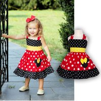 Wholesale Cartoon Minnie Mouse - Toddler Girl Sleeveless Minnie Dress Summer Baby Girls Cartoon Mouse Chiffon Dresses vetement enfant Children's Clothing
