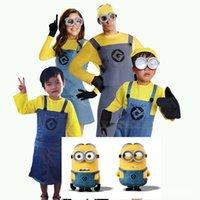 kostüm köleleri toptan satış-Tam Set Despicable Me Minion Film Cosplay Minions Giyim Çocuk Cadılar Bayramı Karnaval Fantezi Elbise Kostümleri TAMAM