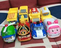 Wholesale Children Toys Korea - 171217 Superwings Poli Toys Korea Robocar Poli - Poli  Amber Roy Helly Spring Team Car Plastic Safe Toy Hot Sale Children Gift.