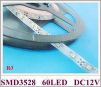 couleur lumière flex achat en gros de-Non-étanche SMD 3528 LED bande légère bande flexible bande douce DC12V SMD3528 60 led 4.8W IP20 CE livraison gratuite