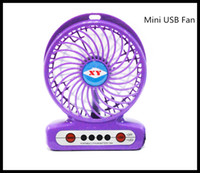 Wholesale Fashion Portable Mini USB Fan Rechargeable Battery Operated LED Lamp for Indoor Outdoor Kids Table