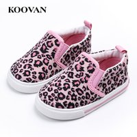 Wholesale Toddler Leopard Shoes For Girls - Hot Sale Leopard Toddler Shoes First Walker Koovan Baby Sneakers 2017 Children's Boys Girls Baby Soft Board Loafers For 1-3 years W305