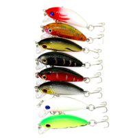 Wholesale Hard Baits For Trout - Wholesale 16pcs Swimbaits Fishing bait 5CM 3.6G 10#hooks fishing tackle lure for trout Classical Minnow bass hard Plastic japan carbon hooks