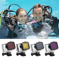 Wholesale Gopro Filter Underwater - Underwater Scuba Diving Lens Filter Protective For GoPro Hero 4 3+ Camera Go Pro