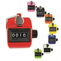 Wholesale hand counters - Digital Plastic Hand Held Tally Clicker Counter 4 Digit Number Clicker Golf Chrome Sport Counter Counting Recorder 240pcs OOA3464