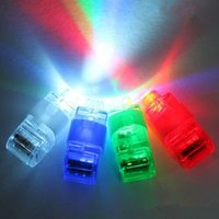Wholesale Cheap Led Lighting For Weddings - Cheap LED Finger Lights Glowing Laser Emitting Finger LED Ring Lamp Beams Kid Toys for Wedding Party Christmas 1000pcs DHL free
