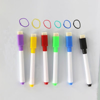 Wholesale Art Erasers - coloured ink Whiteboard Marker Pen Set With Eraser marker pen children kids stationery gift erasable marker pen