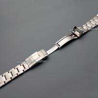 banda de reloj curvada del extremo al por mayor-20mm Nueva venta al por mayor de plata cepillada de acero inoxidable extremo curvo correa de la correa del reloj pulseras para reloj
