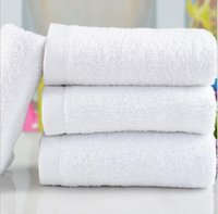 Wholesale Children S Hooded Towels - 100% Cotton hotel towels disposable hotel bath towel beach swimming sport towel luxury Hotel Spa Bath white Towel