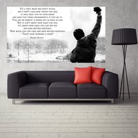 Wholesale Motivational Wall - ROCKY BALBOA - Motivational Quotes Art Poster Home Decorative Wall Picture Silk Posters Murals Gift