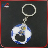 Wholesale Wholesale Souvenirs For Wedding - Hot sale promotional gifts enamel football bottle opener keychain football sports souvenir metal keychain for wedding favors