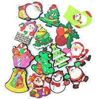 Wholesale Snowman Fridge Magnets - Newest Christmas Santa Claus Snowman Fridge Magnet 2016 Cute Cartoon Fashion Crystal Glass Fridge Magnets Funny Refrigerator Toy