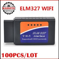 Niedrigster preis !!! 100 stücke Selbstdiagnosescanner OBD2 OBDII OBD wifi wifi elm327 ulme 327 v1.5 Adapter schnittstelle Unterstützung Android / IOS / iphone