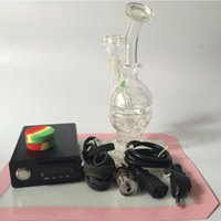 Wholesale Eggs Control - Temperature control box Thick Glass Water Pipes Glass Pipes Feb Egg Recycler Oil Rigs Bubbler Glass Bongs Smoking Pipe Hookahs