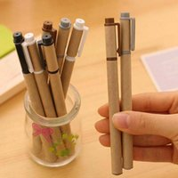 Notes black writing paper - New Kraft Paper Pen Environmental Friendly Recycled Paper Ball Point Pen Writing School Office Gel Pens