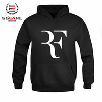 Wholesale White Star Dress - Wholesale-High Quality RF Roger Federer tennis sport player star logo hot 100% Cotton Casual Dress Cloth camisola sweatshirt pullover