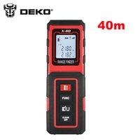 Wholesale Tools Measuring Area - Wholesale-DEKO X-40 40m Mini Digital Laser distance meter Rangefinder Range finder Tape measure Area volume tool