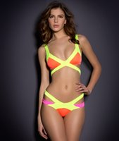 Wholesale Girls Fashion Bikini - Fashion Summer Triangle Push Up 8 Colors bandage style tankinis Swimsuit Bikinis Sets Swimwear For Sexy Women Girl Bathing Suit S-XL 3011