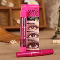 Wholesale Mascara 4d - authentic Thai cosmetics Mistine 4D Lengthening slim Mascara thick curly SUPER MODEL makeup maquiagem