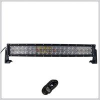 Wholesale Spot Flood Combo 4wd Led - 22 inch 200W 5D Curved CREE LED Work Light Bar for Tractor Boat OffRoad 4WD 4x4 Truck SUV ATV Spot Flood Combo Beam 12V 24v with Wiring Kit