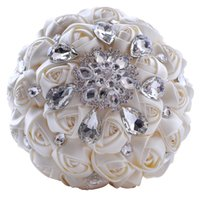 Wholesale Artifical Bouquet Flowers - Gorgeous Crystal Wedding Bouquet Brooch Bouquet Wedding Accessories Bridesmaid Artifical Wedding Flowers Bridal Bouquets