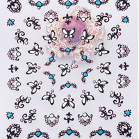 Wholesale butterfly effect for sale - Group buy 2017 New Fashion D Lace Butterfly Totem Love d Hypotenuse Paste Effect Looks More Real The Operation Is Simple And Convenient