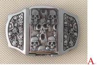 hebillas de cinturón encendedores al por mayor-Hebilla de cinturón 3D Skull con encendedor de queroseno con acabado de estaño SW-P03 nueva condición con stock continuo