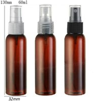 Atacado- 30 x 60ml New Fashion Amber Brown Travel Garrafa de perfume de plástico 60cc Pulverizador de névoa Plastic Atomizer 2oz Perfumance container