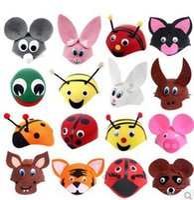 Wholesale Children Stage Shows - New Party Performance Cosplay Cartoon Hat Tiger Frog Rabbit Animal Design Cap Children Cosplay Accessories Adult Children Universal Show Cap