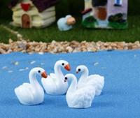 ingrosso accessori per il giardino delle fate fai da te-Mini Swan for Animal Miniature Fairy Garden Casa Case Decorazione Mini Craft Micro Landscaping Decor Accessori fai da te