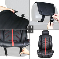 Wholesale Auto Leather Protector - TIROL 1Pcs PU Leather Universal Auto Car Seat Cover Front Single Seat Cushion Cover Protector