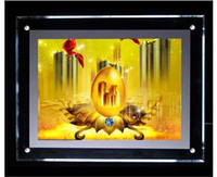 Wholesale Light Box Photo Frame - FREE SHIPPING Factory Outlet A4 Crystal light box, A4 size photo LED light box without frame, acrylic light box