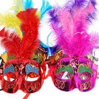 maskeli maskeler yapmak toptan satış-Karışık renk Cadılar Bayramı LED Yüz maskesi Masquerade Cosplay cadılar bayramı phoenix prenses zarif yakışıklı tipi senin merak hayatını makyaj