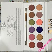 Wholesale Eye Shadow Pen Makeup - Best Quality Kylie Jenner Makeup The Royal Peach Palette 12 colors Eyeshadow With Pen Kyshadow Eye Shadow