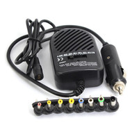 Wholesale Wholesale China Dc - Universal DC 80W Car Auto Charger Power Supply Adapter Set For Laptop Notebook with 8 detachable plugs Free Shipping Wholesale 50pcs lot
