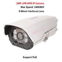 Wholesale Security Camera Plate - 2MP 1080P PoE LPR NPR ANPR IP Camera Video Surveillance Security Onvif 5-50mm for Gateway Car License Plate number Capture